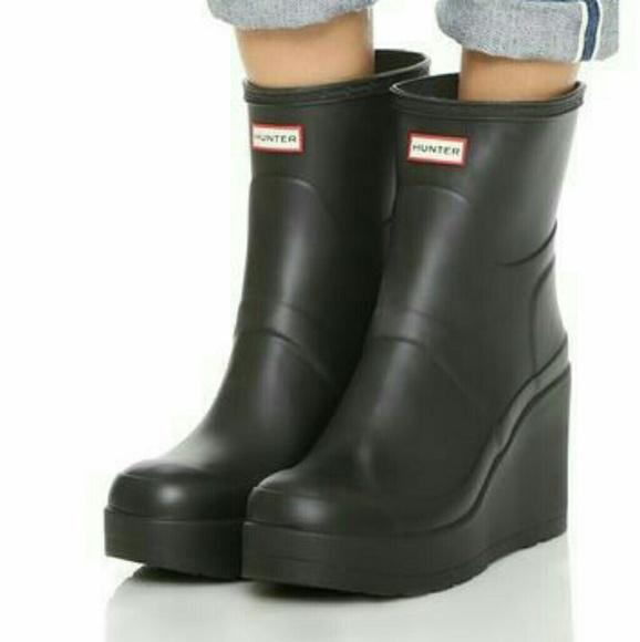 Hunter Shoes | Waterproof Wedge Ankle